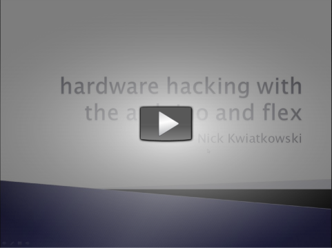 Hardware Hacking with the Arduino ScreenCast