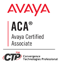 Avaya ACA and TIA CTP Certified
